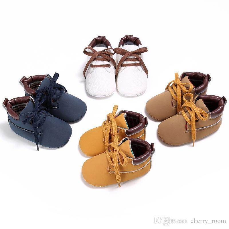 Baby Boys Shoes Fashion New Autumn Infant Casual Shoes Non-slip Lace ... 6054f78a1de7