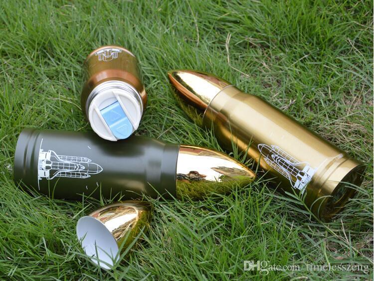 350ml 500ml proiettile tazza di vuoto in acciaio inossidabile Thermos Bottle creativo di bottiglia di acqua di sport esterni di viaggio Bicchieri