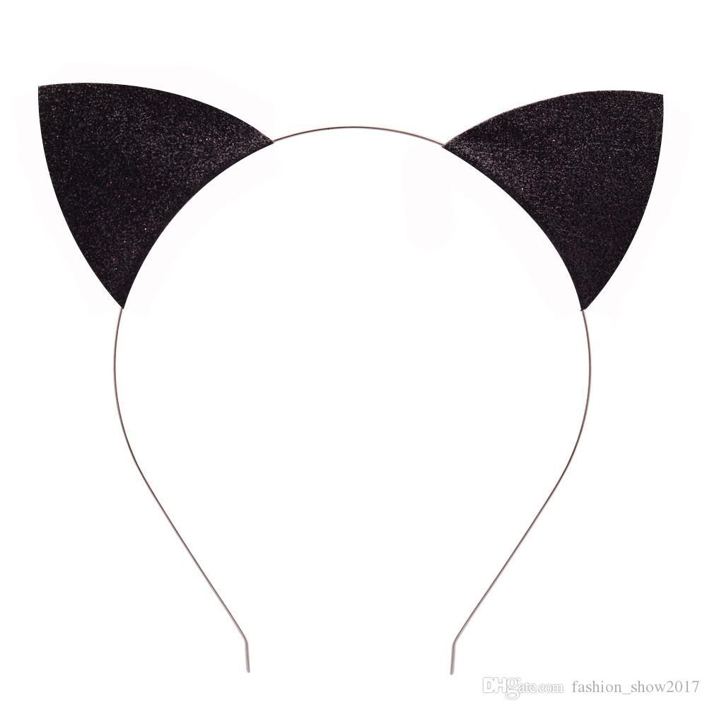 جديد أزياء طفلة آذان القط عقال طفل أطفال القط الشعر الفرقة أغطية الرأس الأطفال اكسسوارات للشعر