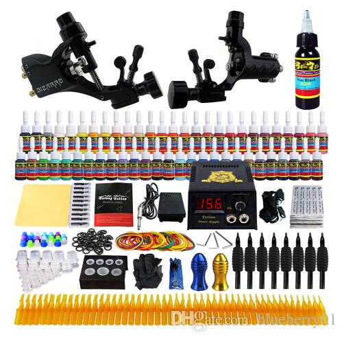 Treu Neue Starter Anfänger Komplette Tattoo Kit Professional Tattoo Maschine Kit Rotary Machine Guns 54 Tinten Power Versorgung Grips Set Tattoo & Körperkunst
