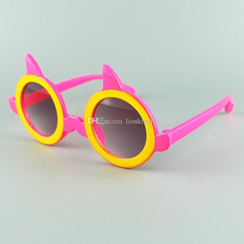 Mode Kinder Sonnenbrille Sommer Baby Brille Jungen Mädchen Runde Form Kinder Sonnenbrille Nette Brillen Oculos Viele Farben YC007