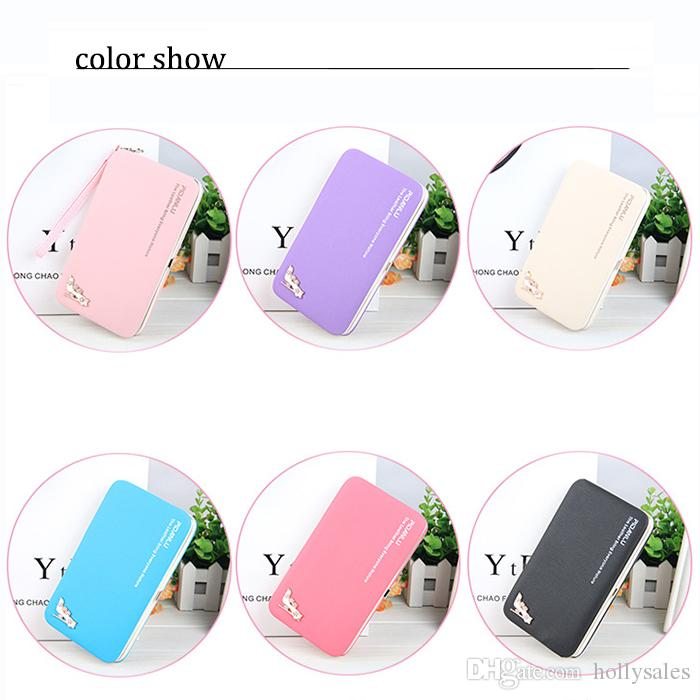 Cute Women hand bag colorful Wallet Long Purse Phone Card Holder Clutch Large Capacity cellphone holder case with card slot for credit card
