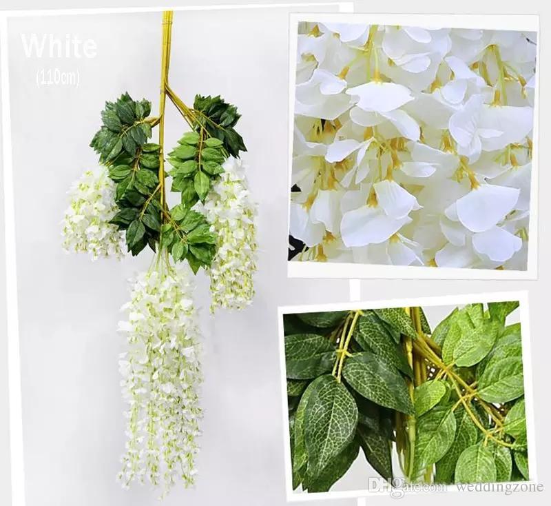 110cm Wisteria Wedding Decor Artificial Decorative Flowers Garlands for Party Wedding Home For