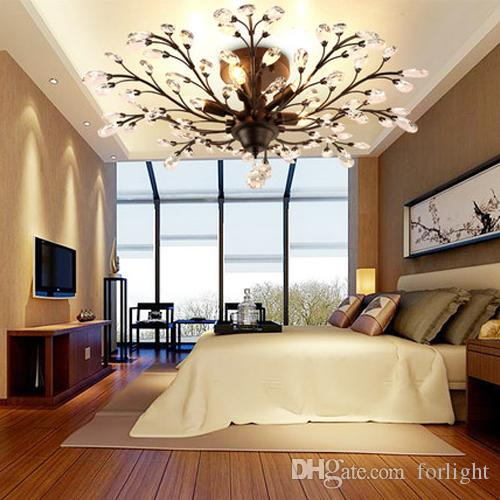 Crystal Chandeliers High Class K9 Led Ceiling American Lighting Lamps Hotel Hall Villa Bedroom Living Room Farmhouse Chandelier