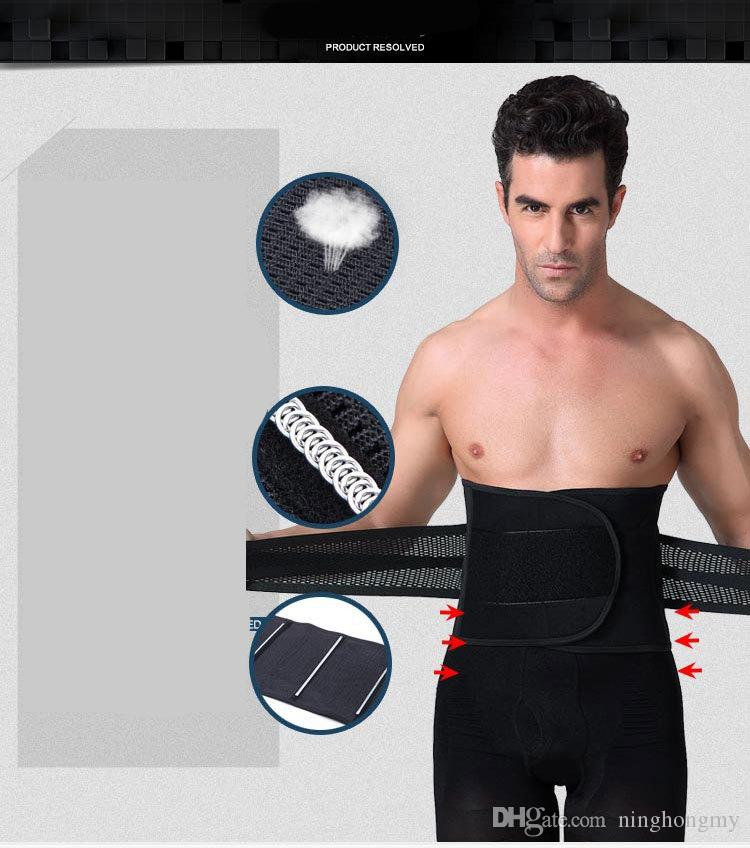 Man lose weight belt abdomen beer belly girdle men's inner muscle belt for slimming waist tummy shaper Corset can adjust the size