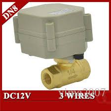 From China wholesale price 3/4 DN20 Brass Electric Ball Valve, 2 way,DC12V,  2 wires BSP thread Motorized ball valve, CR201 with actuator