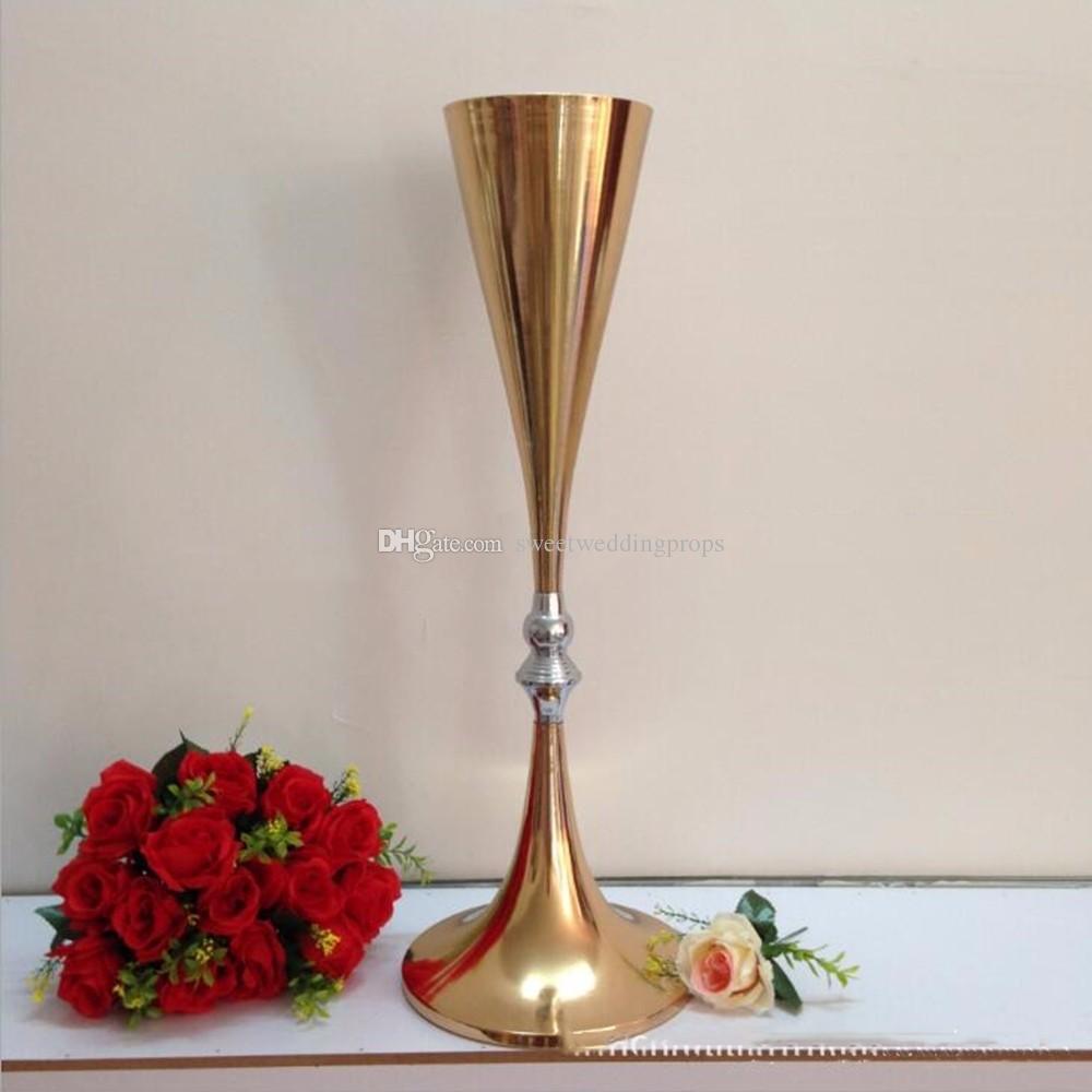 70cm 높은 새로운! 골드 웨딩 테이블 꽃 스탠드 / 웨딩 테이블 센터 피스 꽃 꽃병
