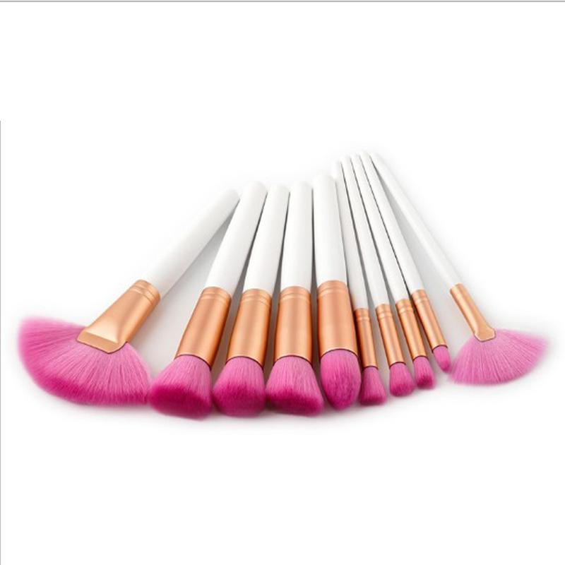professional makeup brushes Set beauty Make Up Brush Set foundation brush Kits Wood Handle Nylon Hair powder brushes of makeup
