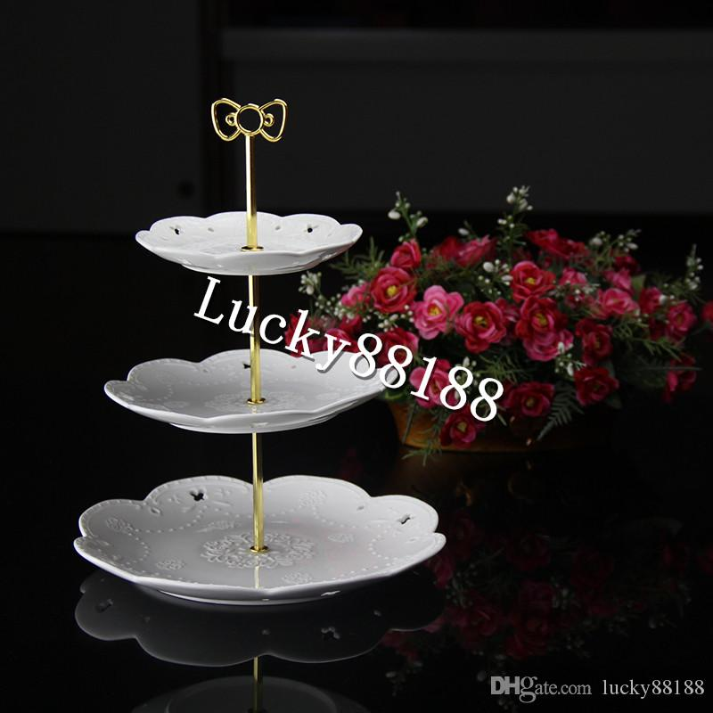 3 tiers gold/ silver metal cale stand handles/cake stand fittings with The butterfly design