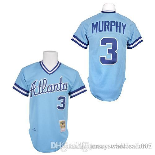 sale retailer 3f151 60c7b atlanta braves 3 dale murphy red throwback jersey