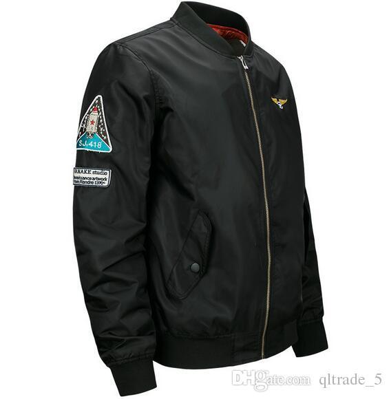 2017 봄 남성 비행 폭탄 테러범 나일론 재킷 패션 공군 MA01 미국 육군 비행 재킷 6XL 5XL 4XL