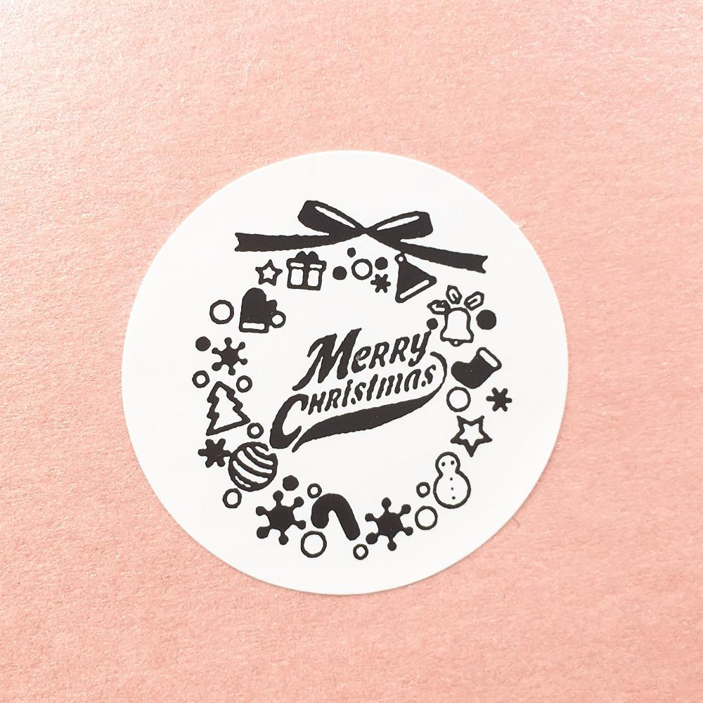 best 35cm white paper merry christmas stickers diy gift label sticker packing labels gift boxbags sealing gift stickers under 904 dhgatecom - Merry Christmas Stickers