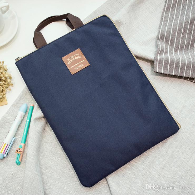 Office Document Organizer Storage Bag Portable Hand Carrying Zipper Files  Folder Tote Water Resistant Nylon Holder For IPad Laptop A4 Paper Portable  ...