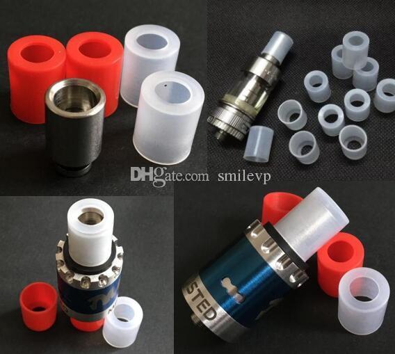 Wide bore silicone test drip tip subtank atomizer rubber cap for aspire atlantis tank RDA RBA silicon mouthpiece drip tip