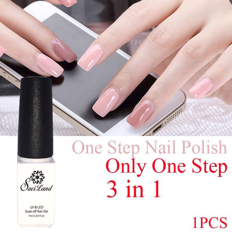 Wholesale Saviland Nail Gel One Step 3 In 1 Uv Gel Color Soak Off No ...