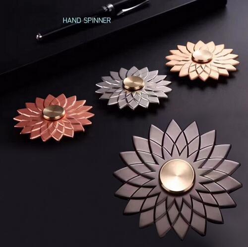 Newest Lotus Flower Fid Spinner Metal Spinner Toys Zinc Hand