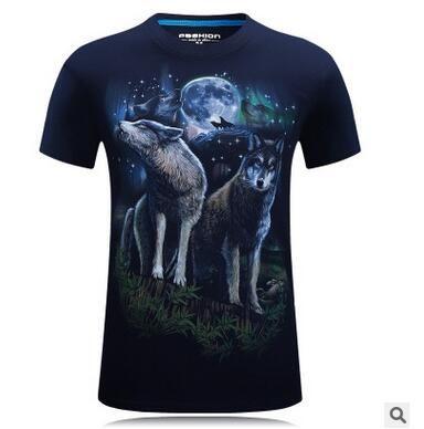Plus Men's Cotton Hd 3D Digital Print Star Wolf Male Loose Short Sleeves T- shirt Tees Tops Big Size Summer Designer Mens T Shirts 3d T Shirt Mens T  Shirts ...