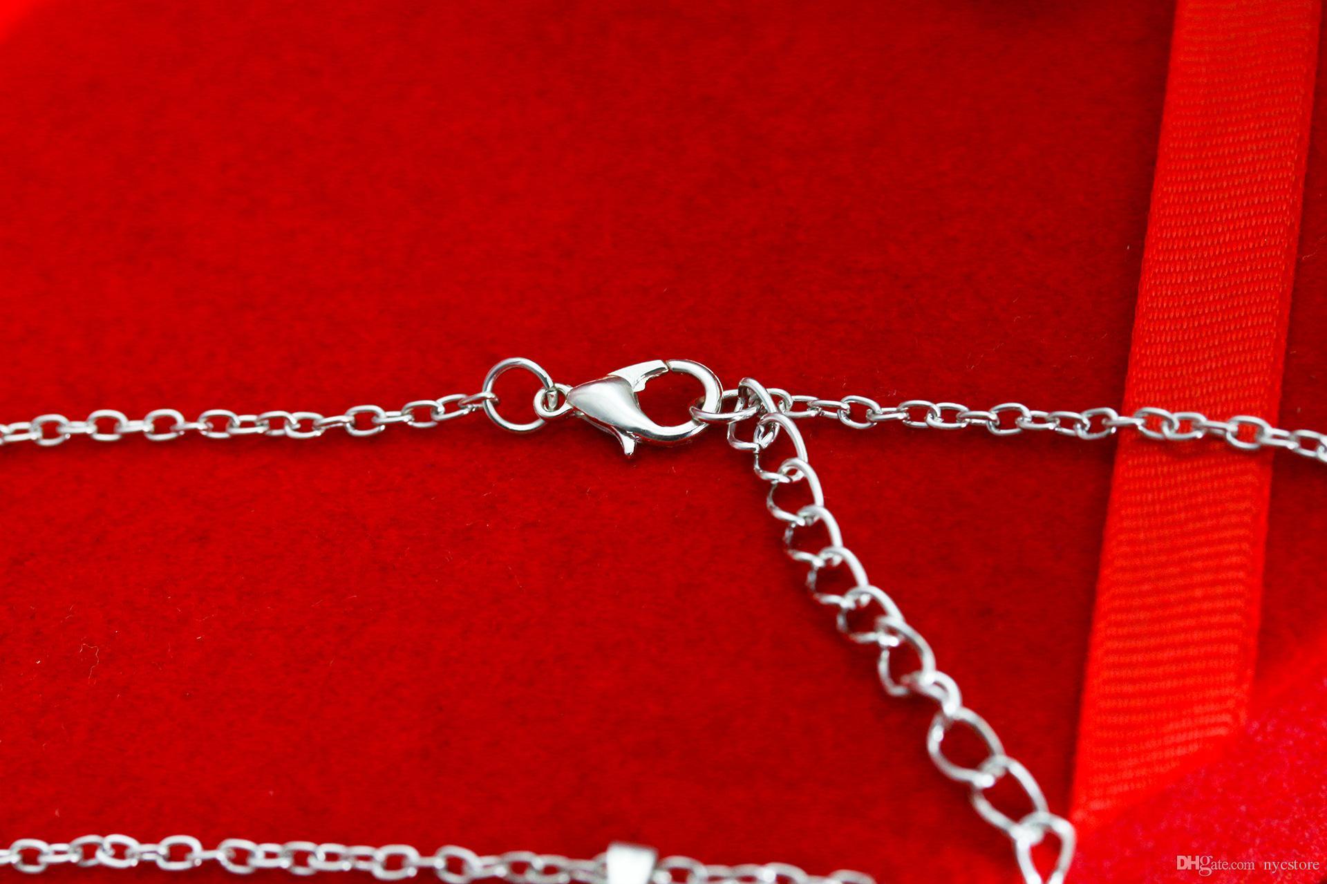 Liga de metal Bonito animal cat paw pés colar de ouro prata cão garra patas em forma de pingente de colar de jóias da menina das mulheres da moda