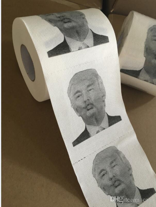 Discount Creative Toilet Paper With Donald Trump Photo Printing Gag ...