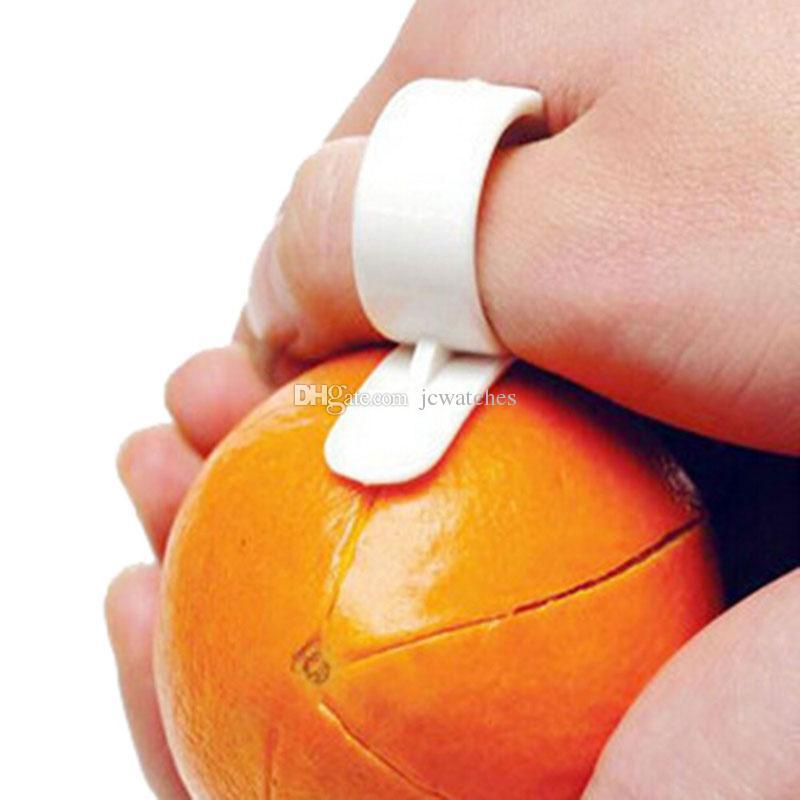 Peladoras naranjas Zesters Tipo de dedo Peladura de naranja abierta Dispositivo naranja Cocina Gadgets de frutas Herramienta de cocina Colores aleatorios