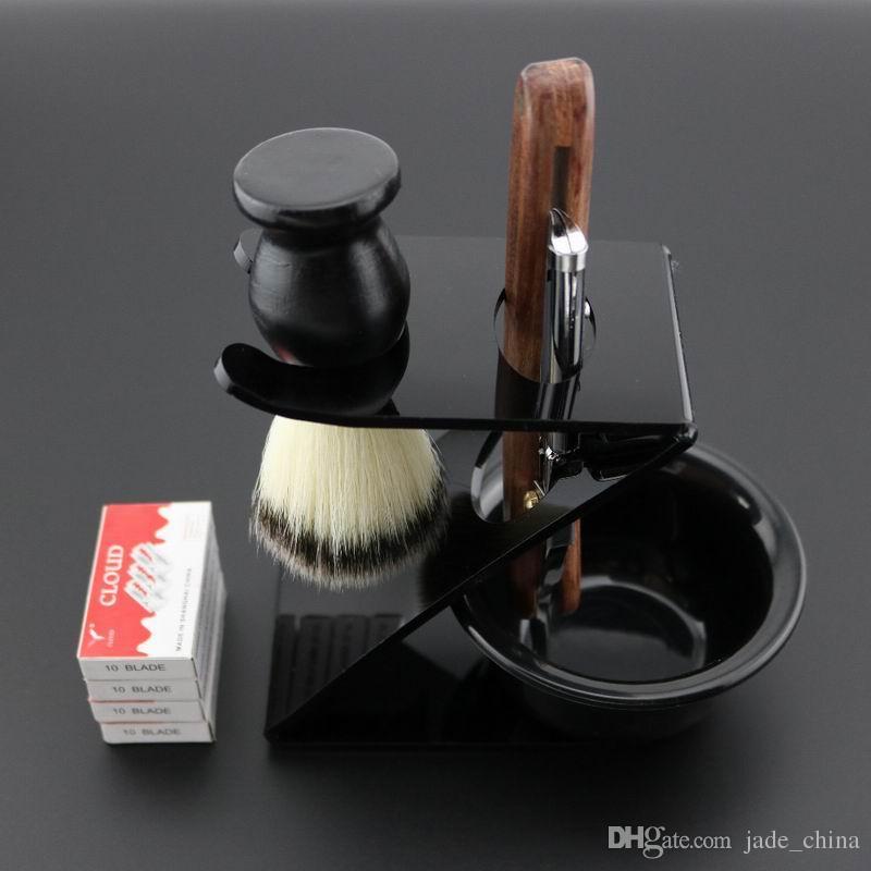 hot sell Lyrebird Straight Razor bright silver Polish Men's Straight Shaving Razor Replaceable blade razor Simple pack NEW