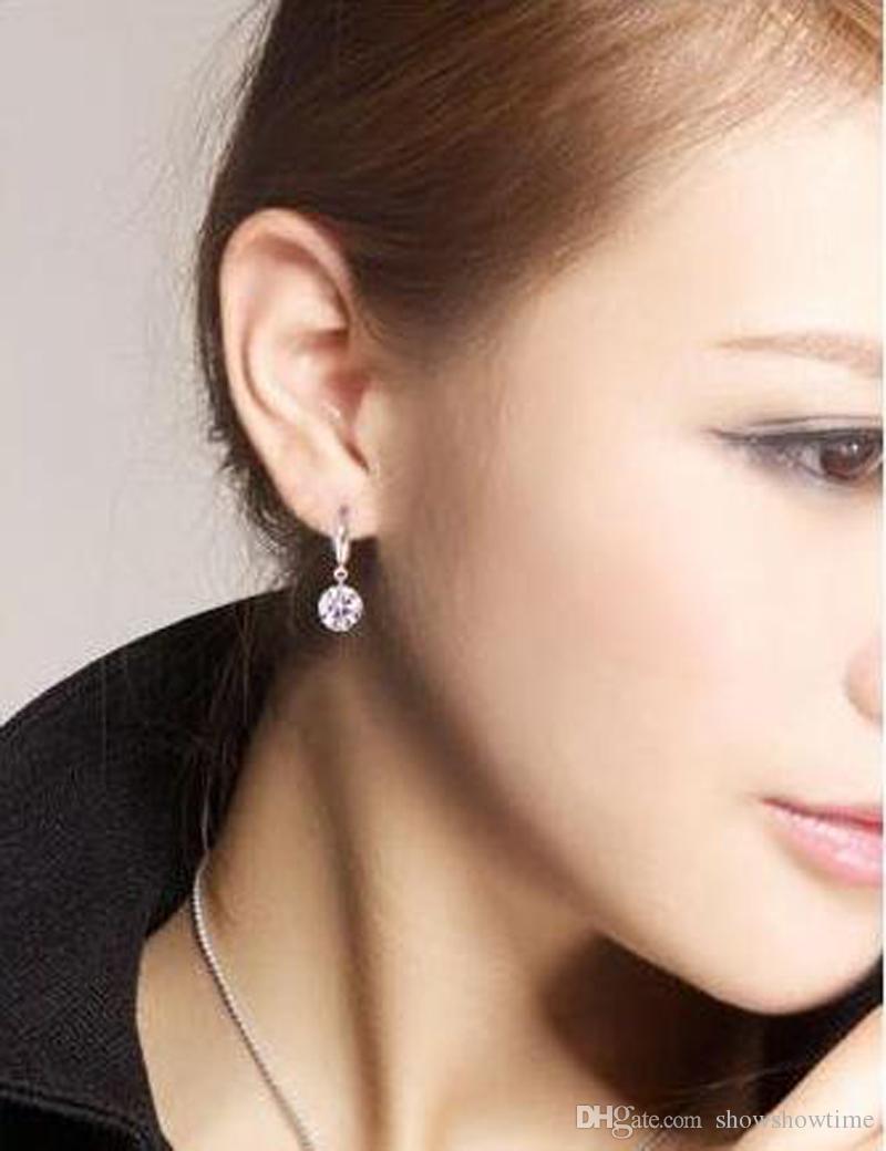 Оптовая Алмаз корейский ребенок Мода ювелирные изделия серебряные серьги дрель флэш ювелирные изделия для женщин Южная Африка Европа арабский хороший серьги