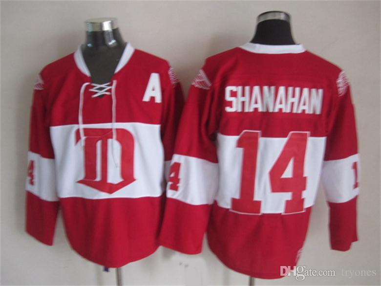 Detroit Red Wings Brendan Shanahan hokey Jersey 14 Brendan Shanahan CCM Vintage 2014 invernali classici Alumni pullover poco costoso di una patch