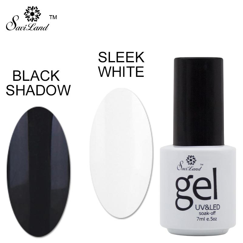 Wholesale Saviland French Manicure Black White Color Style Tip ...