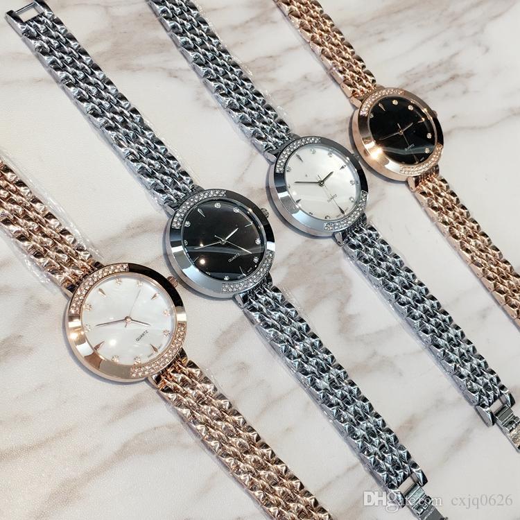 أعلى العلامة التجارية نموذج جديد فاخر دروبشيبينغ أزياء سيدة اللباس ووتش الشهيرة كامل الماس والمجوهرات لطيف المرأة ووتش جودة عالية سعر الجملة