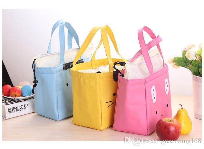 Borse il pranzo di tela carino Cat's student's Office Storage Bag Sacchetto di frutta alimentare Isolamento / Ice Cooler Borsa prodotti