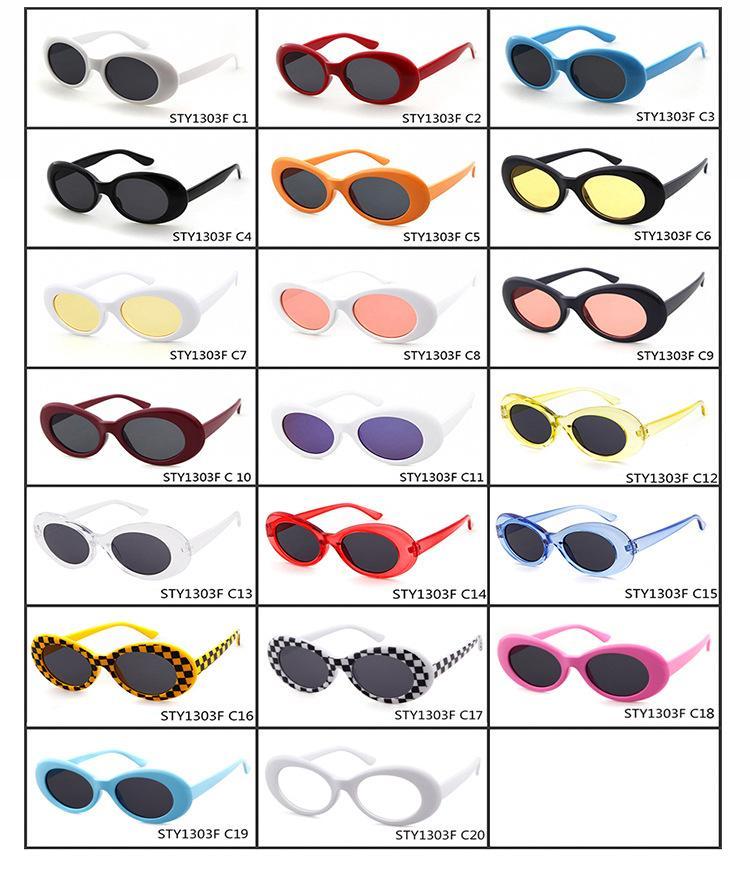 b8b9d89b22 Clout Goggles NIRVANA Kurt Cobain Glasses Classic Vintage Retro Oval Sunglasses  Shades Sun Glasses Punk Rock Unisex Women Men Glasses For Men Mens ...