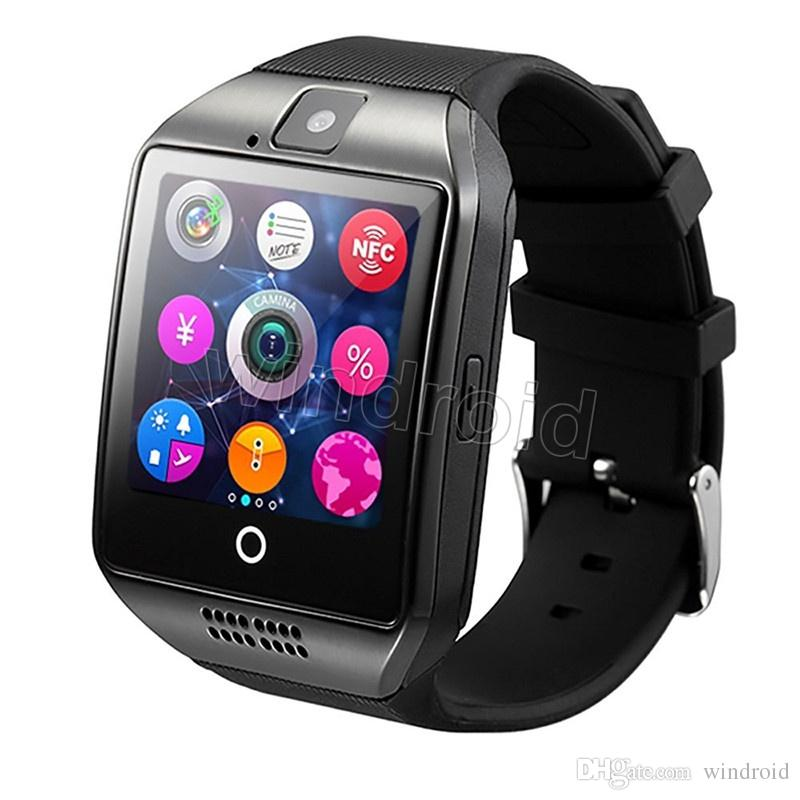 Smart Watch Q18 with Touch Screen camera sim card TF card Bluetooth Facebook smartwatch for Android and IOS Phone with retail package