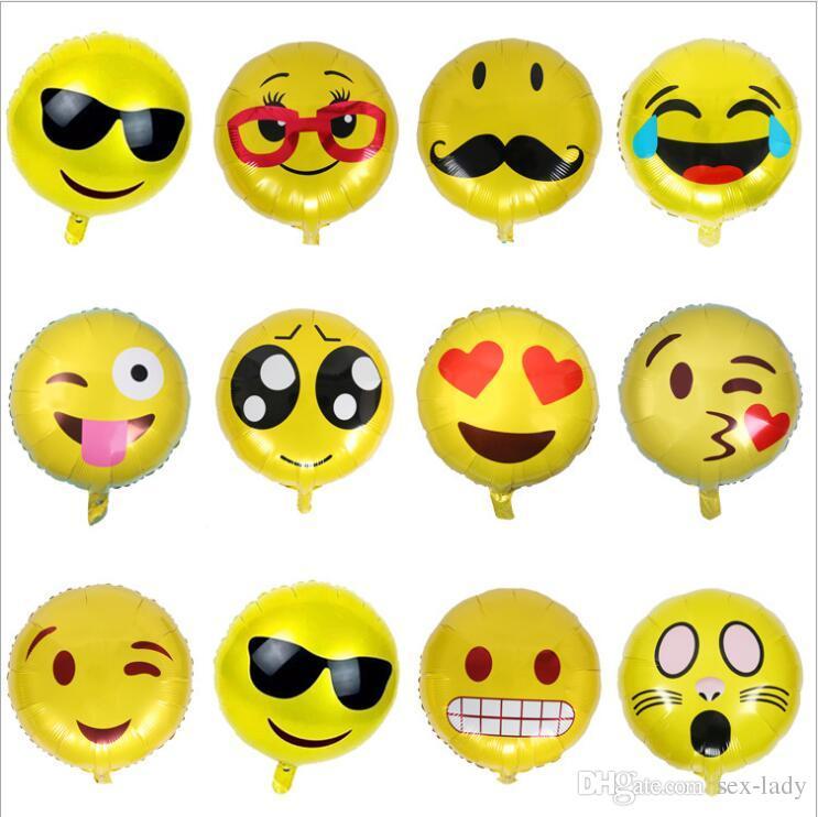 Großhandel Qq Ausdruck Lächeln Gesicht Folienballons 18 Zoll Smiley ...