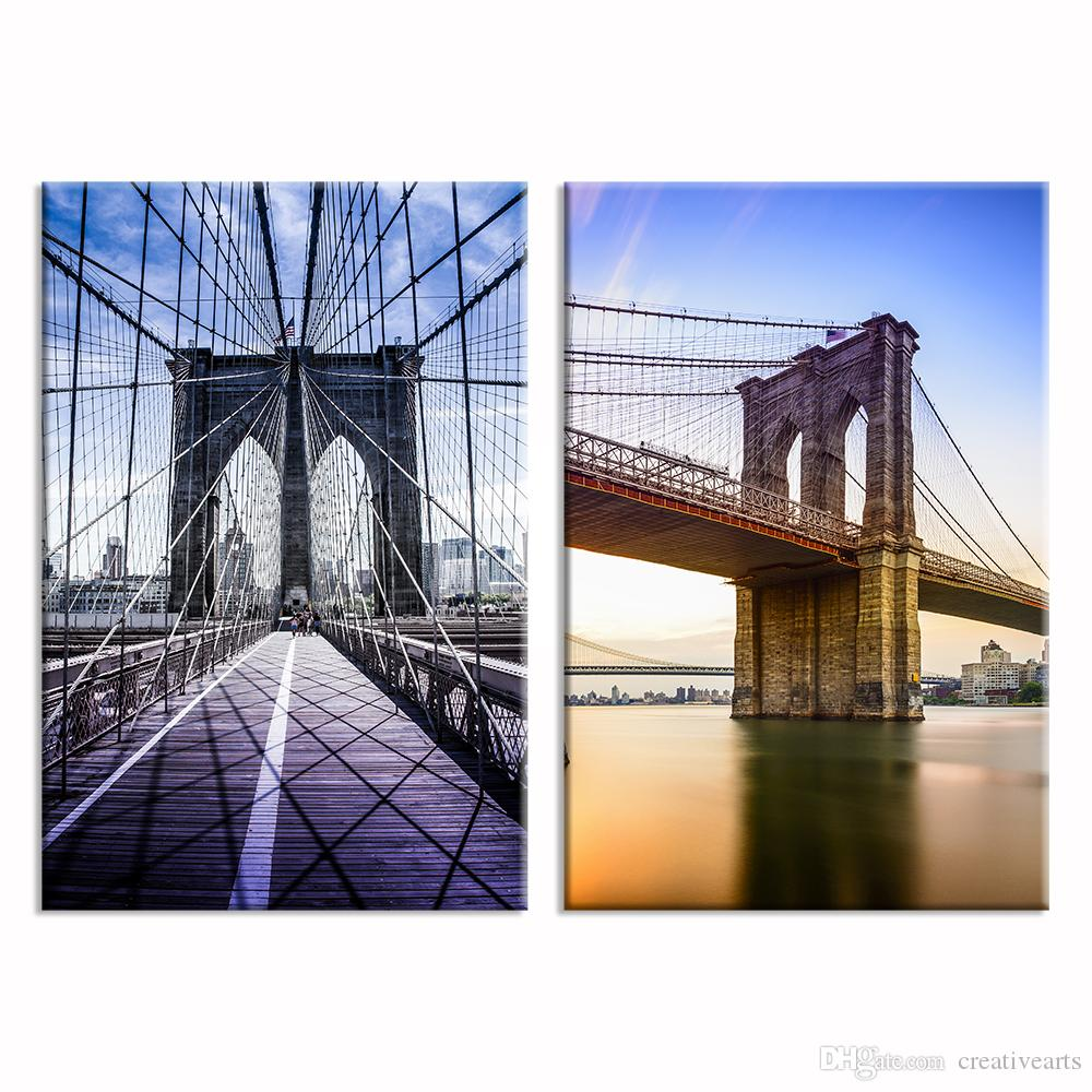 2018 Canvas Wall Art Brooklyn Bridge Picture Canvas Prints Canvas Wall Decor  Hd Photo Printing Home Decorative Goods40cmx60cmx2 From Creativearts, ...