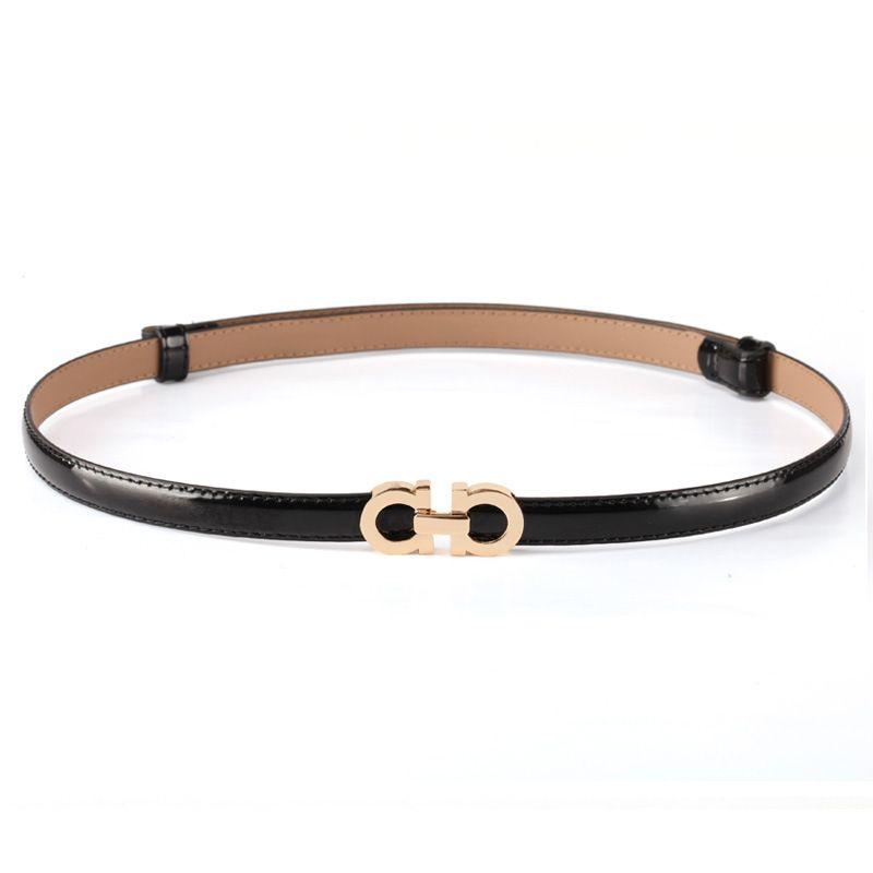 5c46923f89cac Summer Fashion Women Luxury Belts Female Patent Leather Designer Slim Dress Belt  Ladies Rose Gold Buckle Waist Belts Belt Conveyor Belt Buckles For Men From  ...