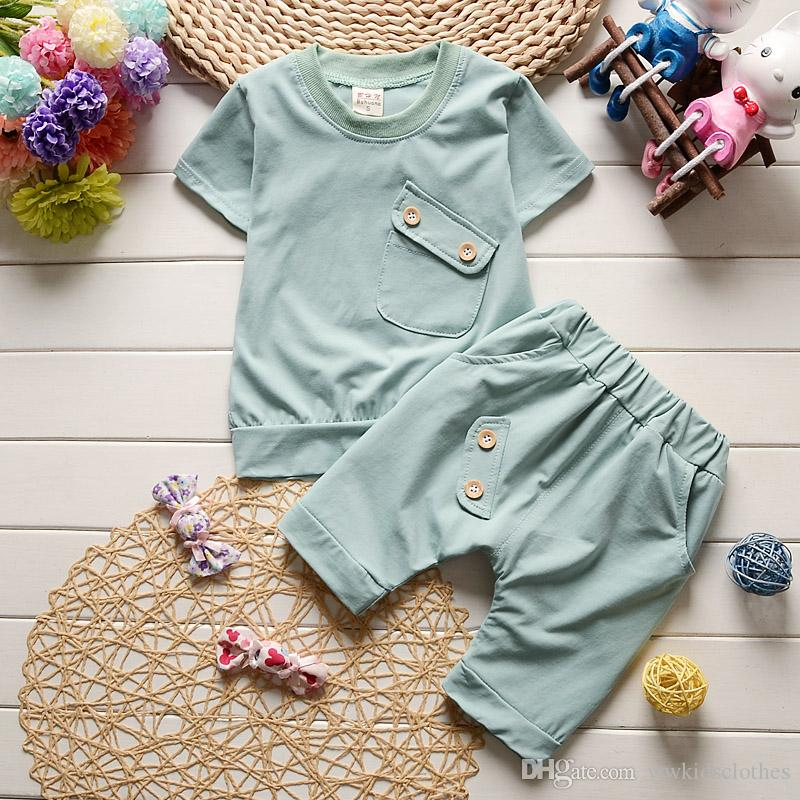32d6efde2383 2019 Hot Sale Summer Baby Boys Girls Clothes Sets Casual Style ...