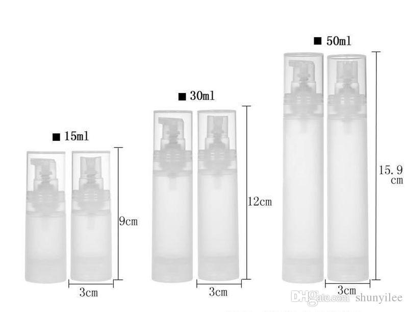 15ml 30ml 50ml flacone senz'aria flacone / opaco bottiglia vuoto bottiglia lozione bottiglia con materiale PP trasporto veloce F20171970