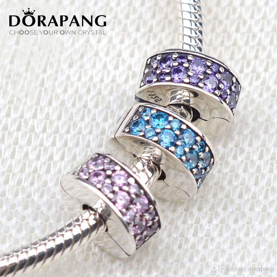 cec755872 2019 DORAPANG 2017 New Shining Elegance Clip Charm Beads 925 Sterling  Silver Pave Purple Pink CZ Stopper Beads Diy Bracelets Fine Jewelry 3013  From Dorapang ...