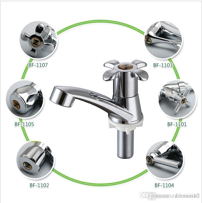 2018 New Abs Plastic Kitchen Faucet Plating Chrome Single Handle ...