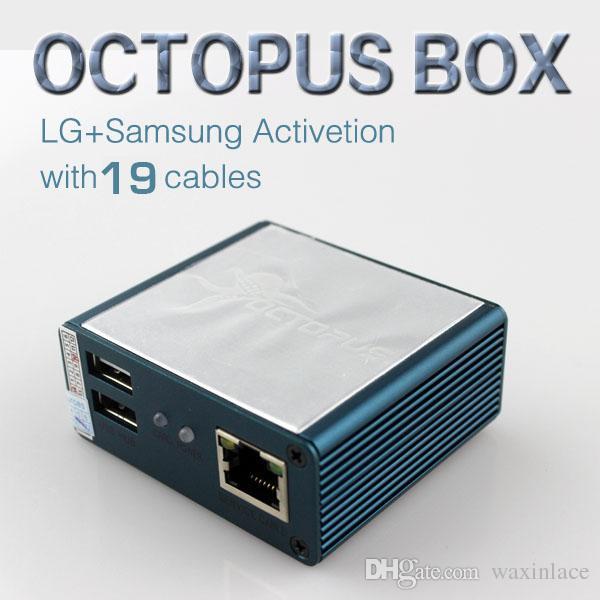 Venta al por mayor Original Octopus box Full activado para LG y para Samsung 19 cables, incluido Optimus Cable Set Unlock Flash Repair Tool