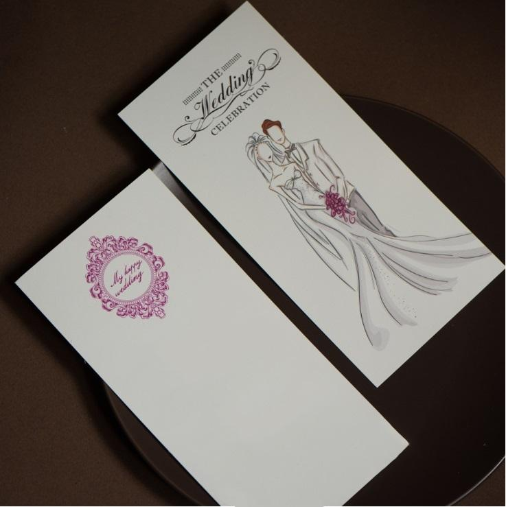 Hot selling Customized Invitation Creative Chinese style wedding greeting invitation CARDS from Wedding supplier in good price DHL FREE