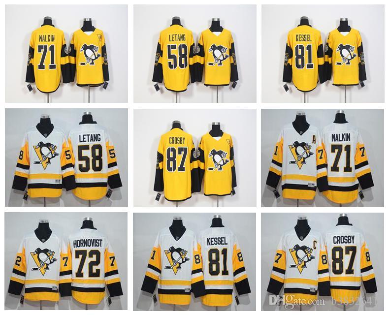2018 Pittsburgh Penguins 2017 Stadium Series 58 Kris Letang 87 Sidney Crosby  71 Evgeni Malkin 81 Phil Kessel Hockey Jersey Stitched From B38326411 b3326f5be
