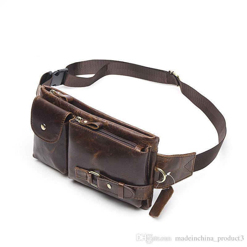 lowest price 8075c b778c Genuine Leather Waist Packs for iphone 8 7plus Fanny Pack Belt Bag Phone  Pouch Bags Travel Waist Pack Male Waist Bag Leather Pouch