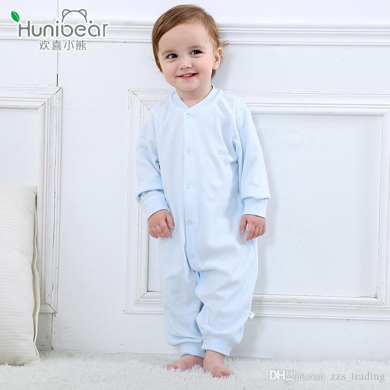 5ddb42cbc3c4 2019 New Born Romper 2017 Baby Girl Boy Clothes Long Sleeves Spring Autumn  Baby Rompers 1 12 Months Jumpsuit Newborn Clothing Infant Toddler From ...