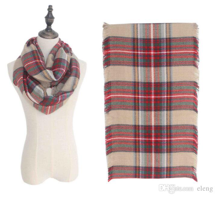 New Fashion Wool Winter Scarf Women Spain Scarf Plaid cashmere Thick Brand Increase lattice Shawls and Scarves for Women