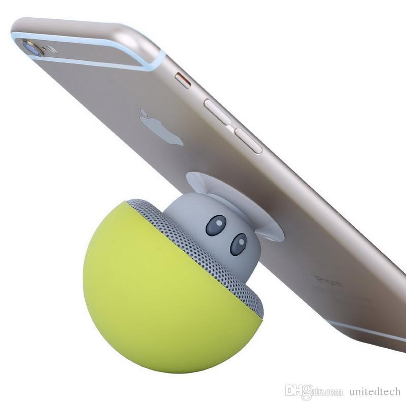 Mini alto-falante sem fio bluetooth portátil cogumelo estéreo à prova d 'água com microfone handfree subwoofers para o telefone móvel iphone xiaomi computador