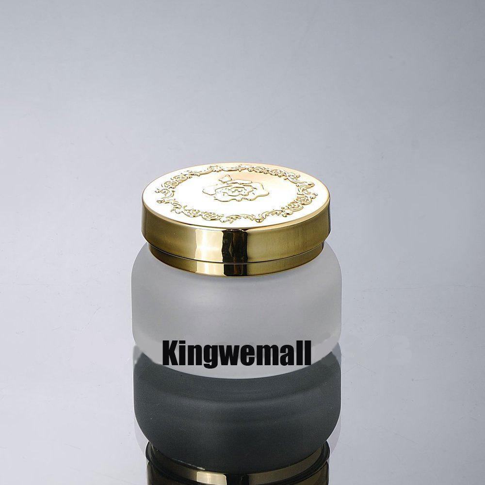 Freies Verschiffen 300pcs / lot 50G Mattglas-Cremetiegel, kosmetischer Behälter, kosmetisches Jasr, kosmetisches Verpacken, Glasflasche EM02