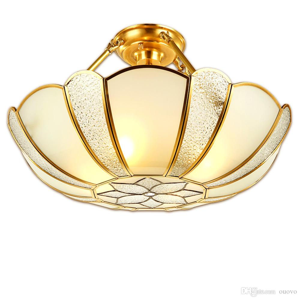 2019 Indian Traditional Flower Copper Restaurant Ceiling Light Glass Lampshade Living Room Gallery Dining From Ouovo