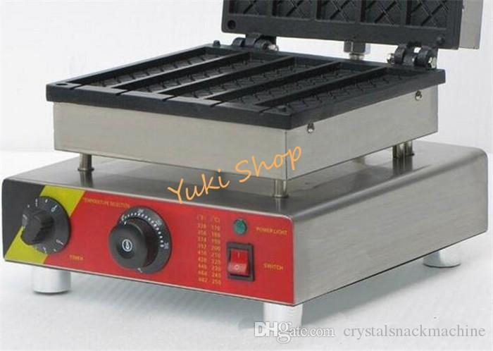 Kommerzielle elektrische Waffel Lolly Maker Maschine Quadrat geformt Waffel Bäcker Waffel Kuchen Backmaschine Snack Lebensmittelausrüstung