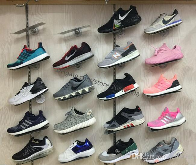 Sneaker casual shoes display stand rack metal Shoes on the wall display stands showing holder shelf for shoe store